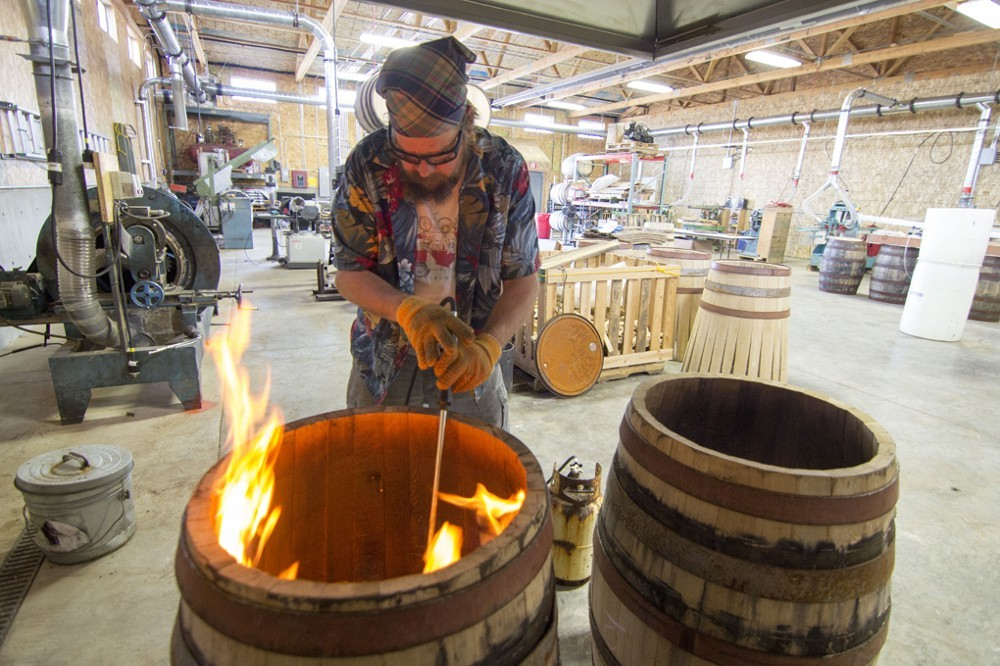 """Charring is one of the most dramatic parts of coopering. Old timers called it, """"45 seconds of hell."""""""