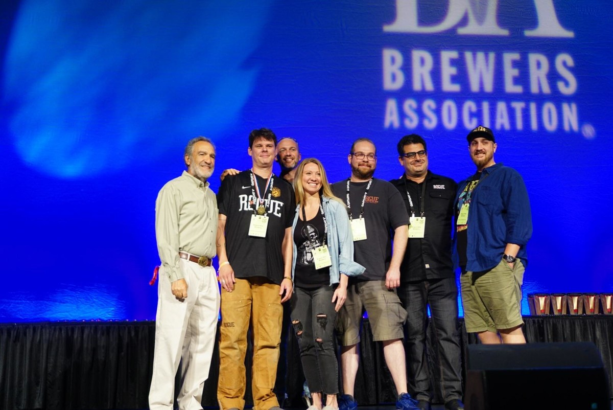 We took home medals, like the gold medal we earned at the Great American Beer Festival.