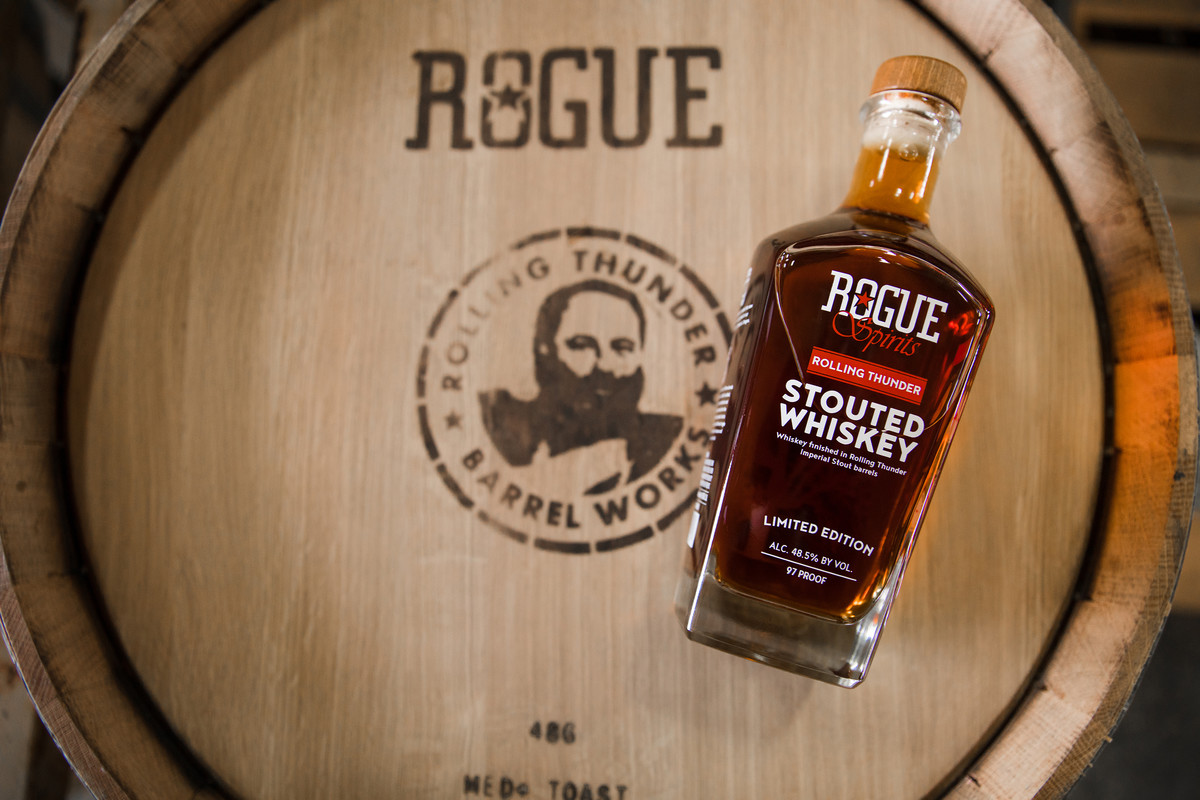 Whiskey distilled by our Head Distiller Brian Pribyl is aged in the Rolling Thunder Barrels for a total of three years.