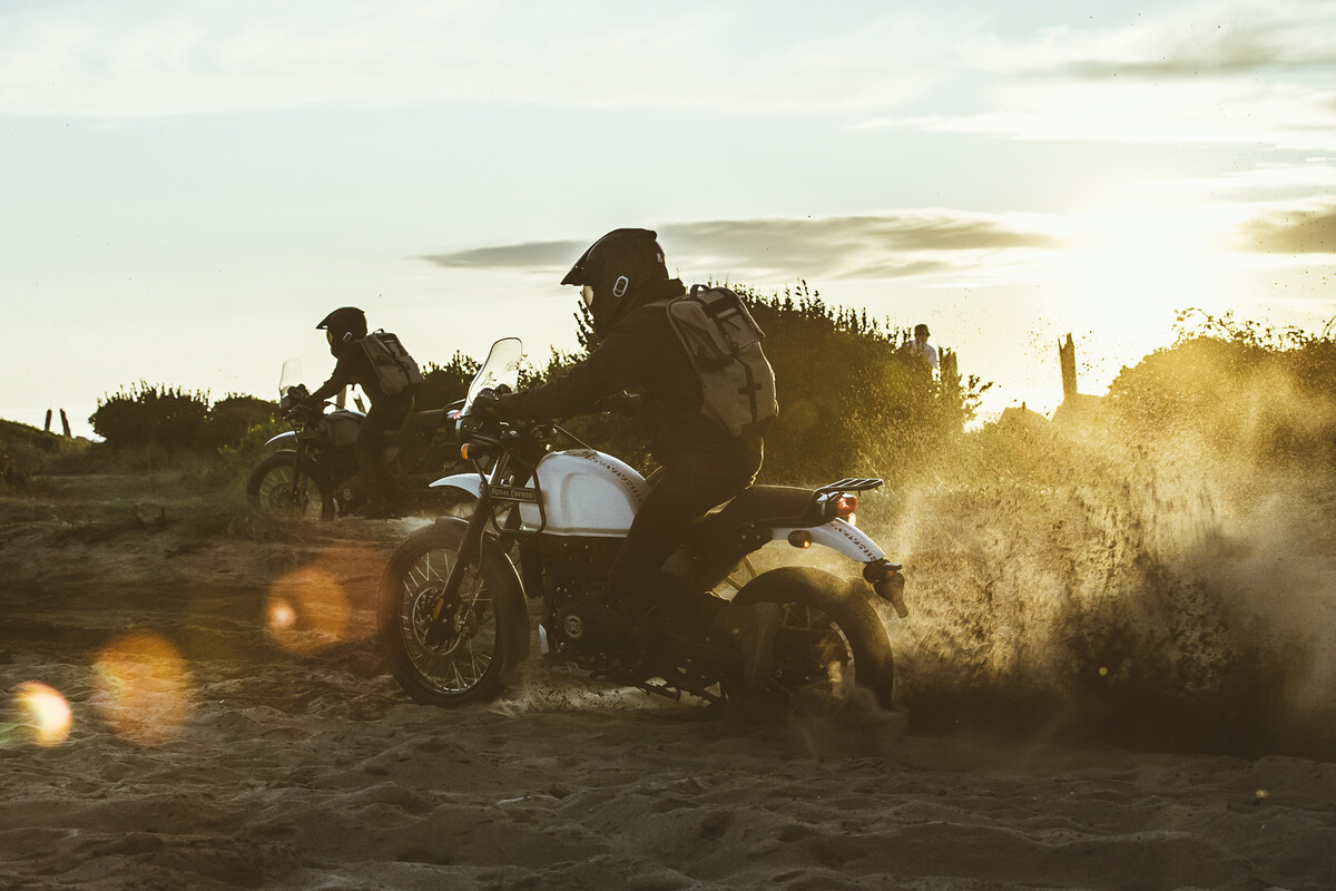 Their mission completed, riders speed home along the beaches of the Oregon Coast.