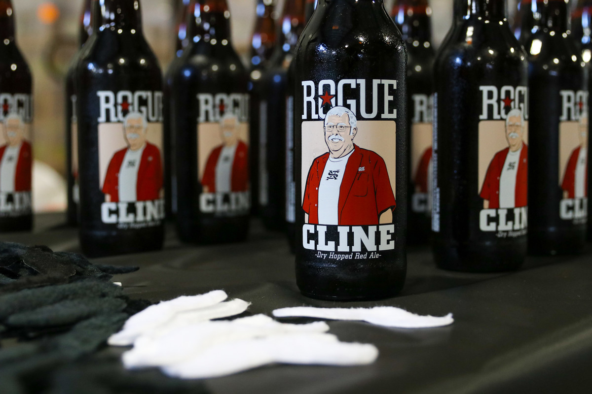 Cline Dry-Hopped Red Ale in a one-of-a-kind bottle.