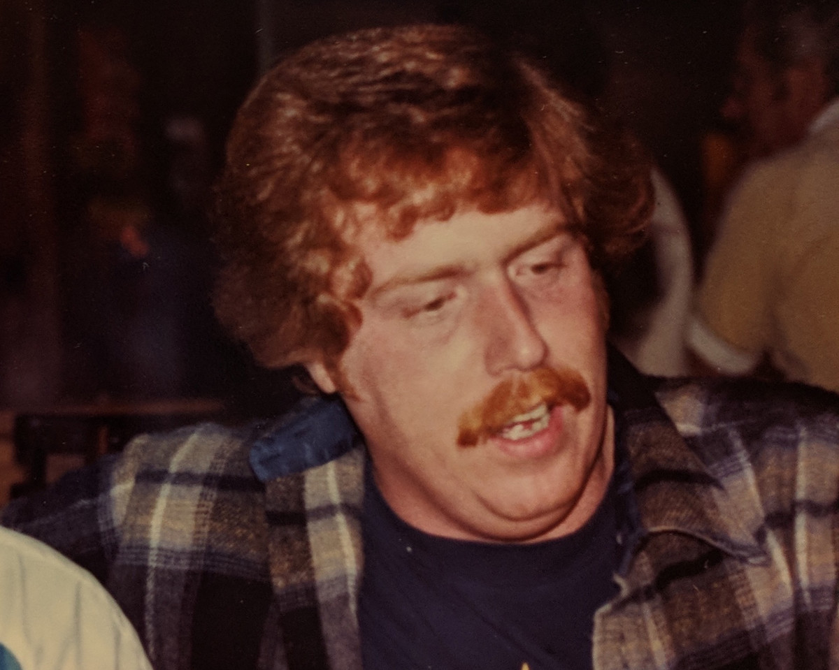 Young Jim Cline when his mustache was still red.