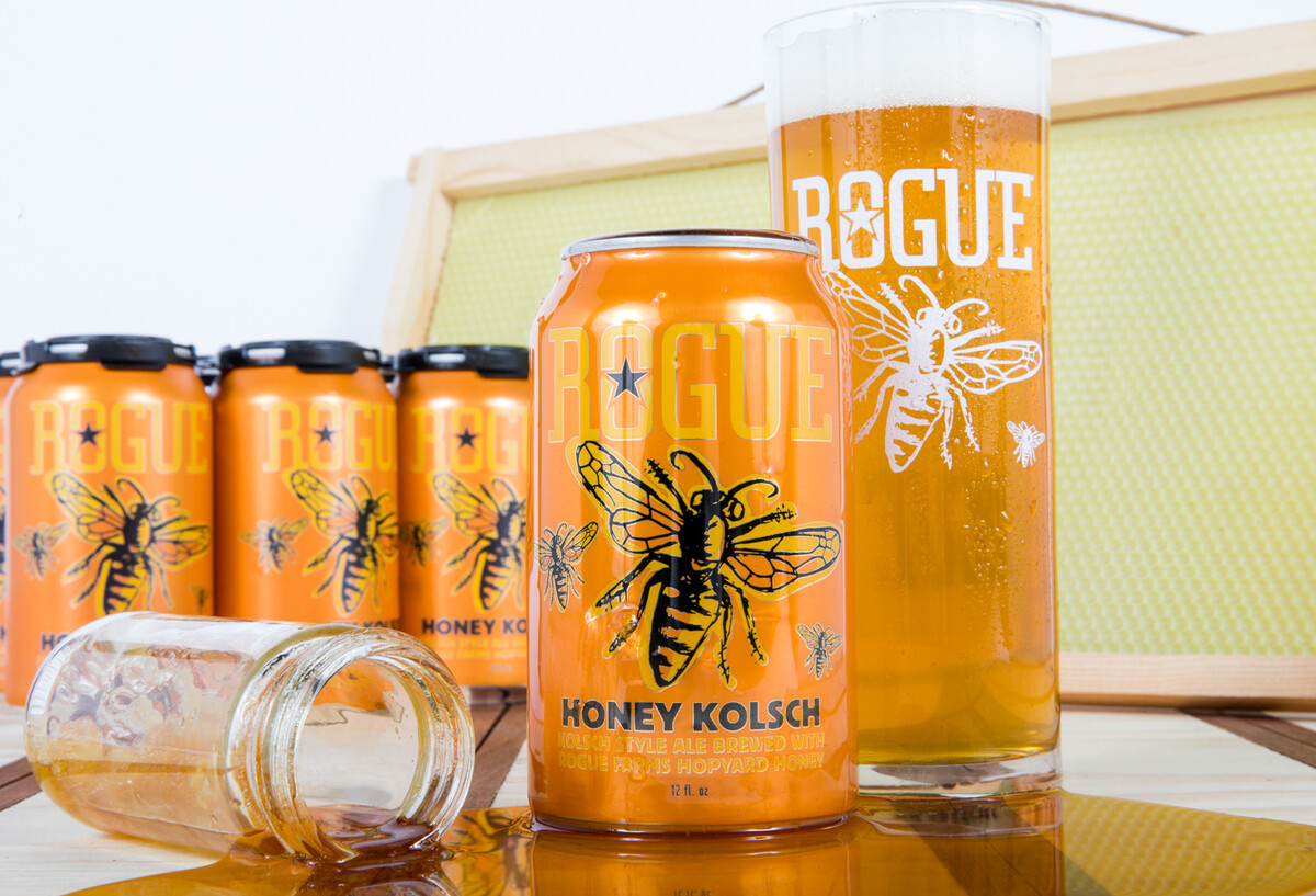 We brew Honey Kolsch with the honey we harvest from 7,140,289 honeybees at Rogue Farms.