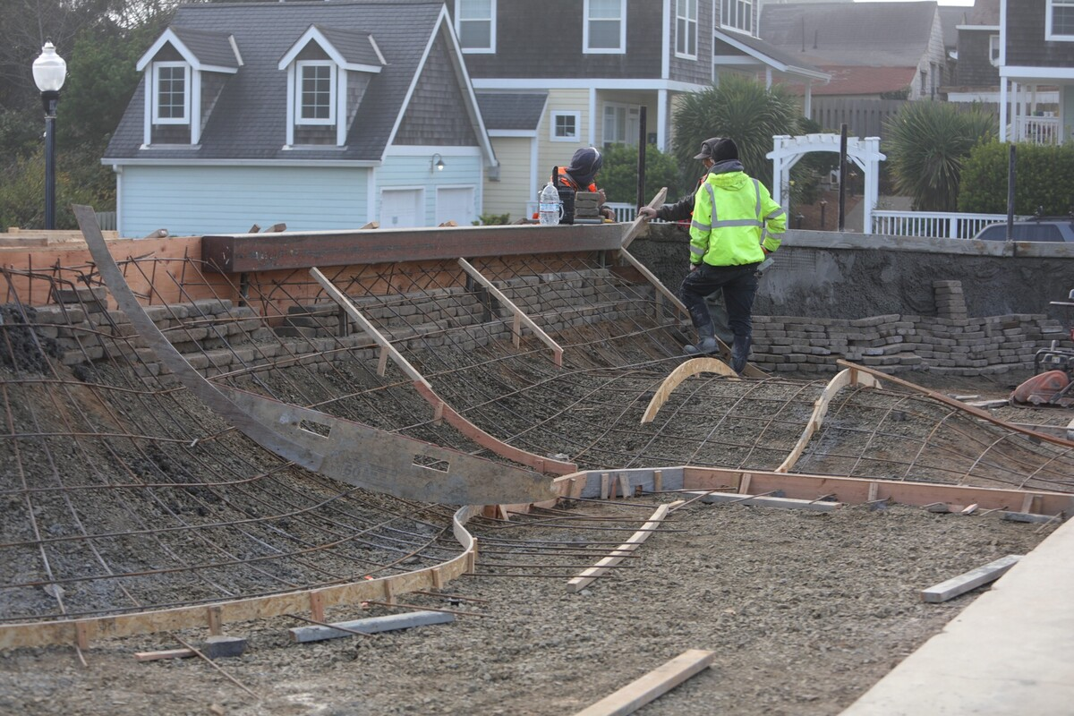 Continued phase two improvements at Newport Skatepark as the team prepares to pour concrete.