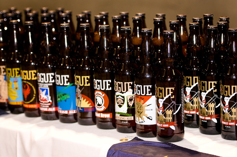 A variety of custom bottles created for different U.S. National Guard demobilization ceremonies here in the Pacific Northwest.