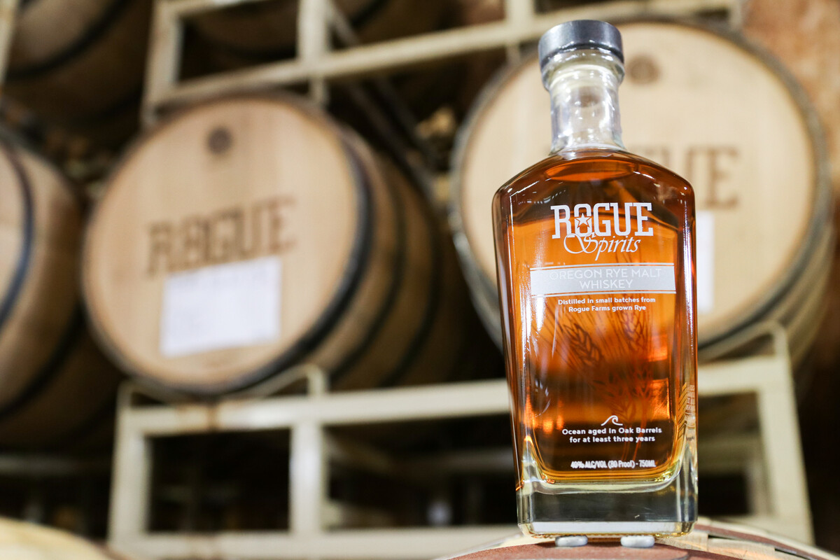Rogue Spirits Oregon Rye Malt Whiskey earned a silver medal at the 2019 San Francisco Spirits Competition.