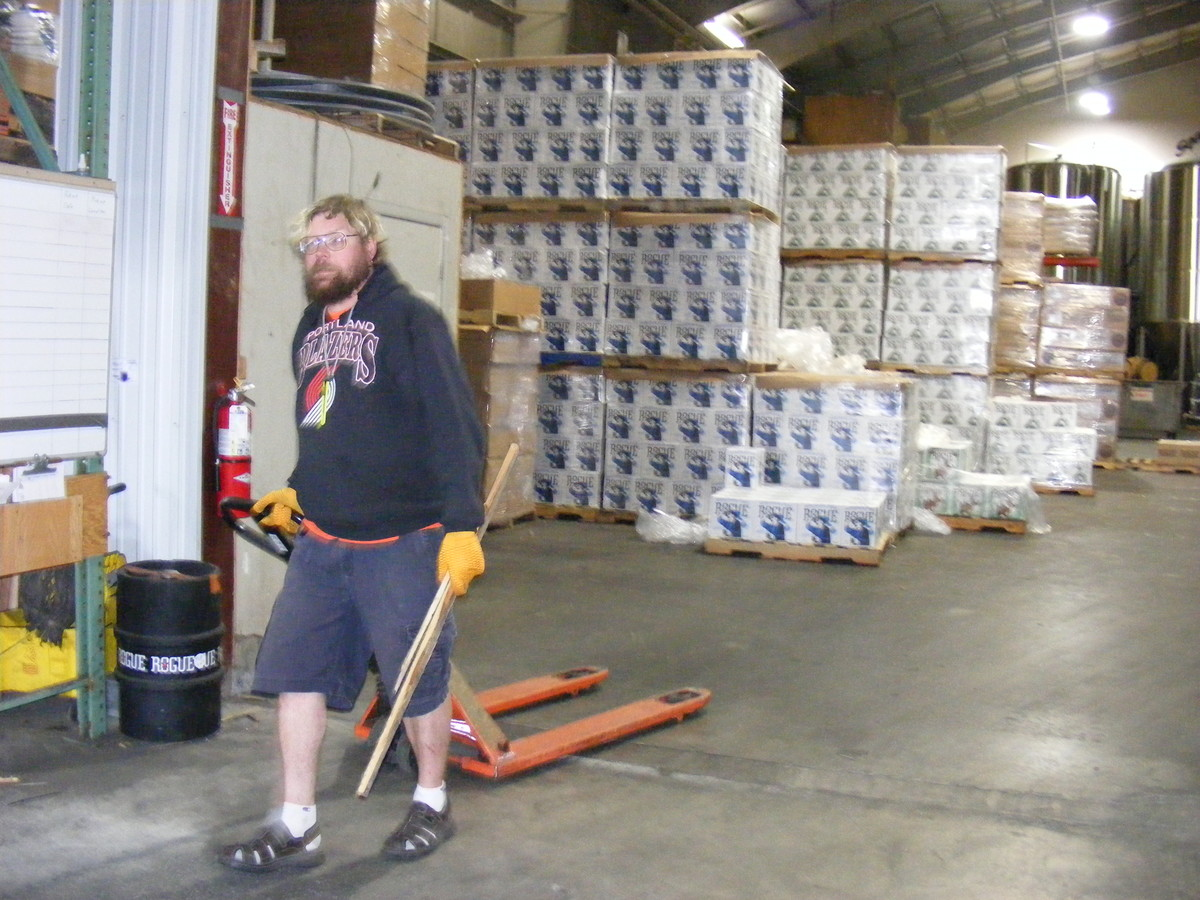 Action shot of Nate working in the Rogue warehouse back in 2013.