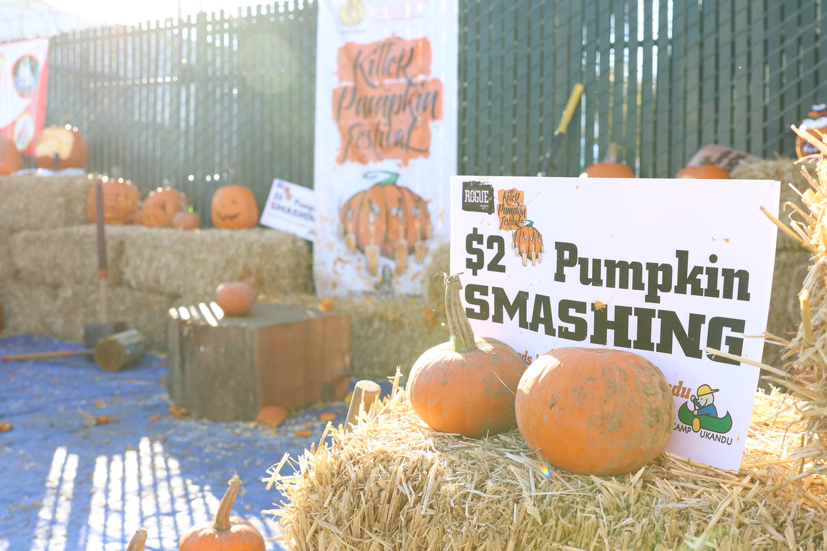 Every pumpkin smashed at the 2017 Killer Pumpkin Festival earned at least $2 for Camp UKANDU.