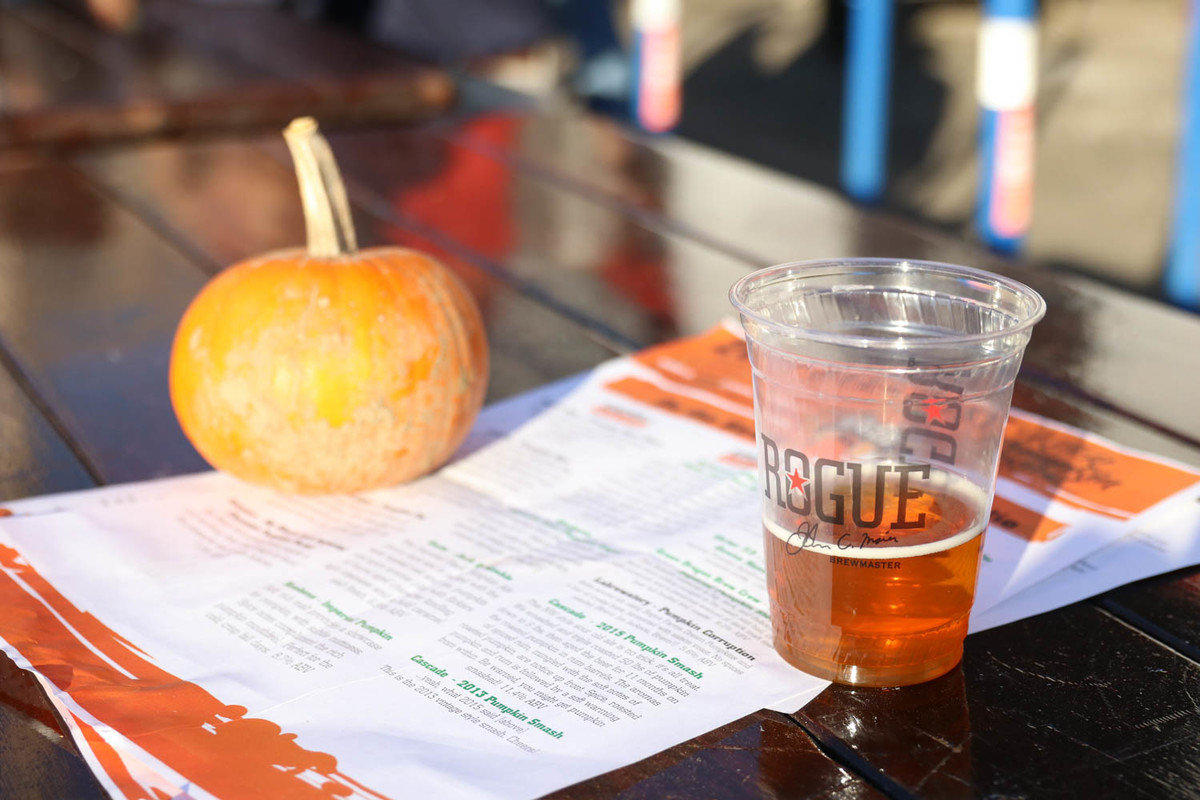 One of the 40 pumpkin brews on tap at the 2017 Killer Pumpkin Festival.
