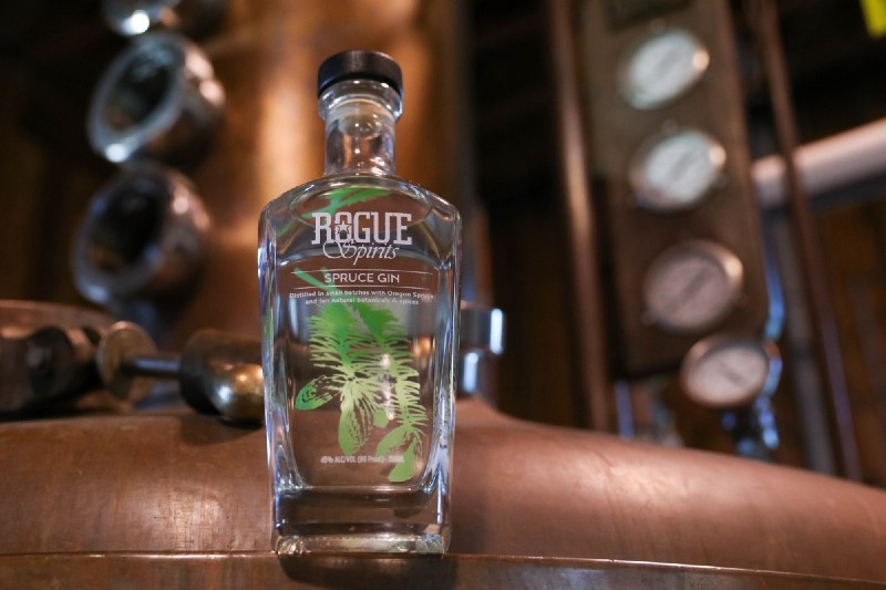 Our Spruce Gin is crafted with fresh cucumber grown at Rogue Farms.