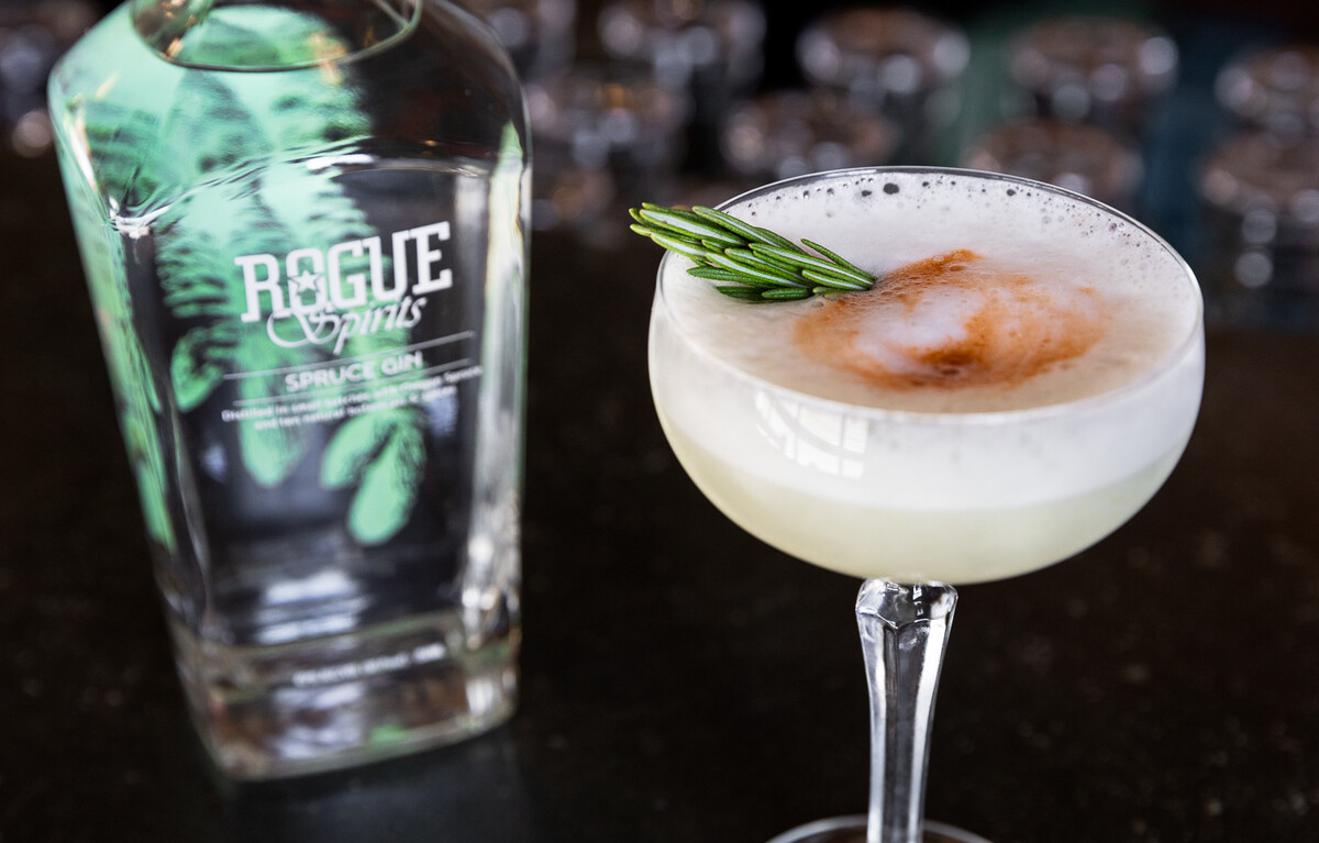 Michelle Glancey's Spruce Gin cocktail combines Spruce Gin with unexpectedly delightful ingredients.