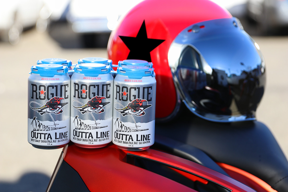 Outta Line IPA, a West Coast-style IPA, is brewed for those who live outside the lines.