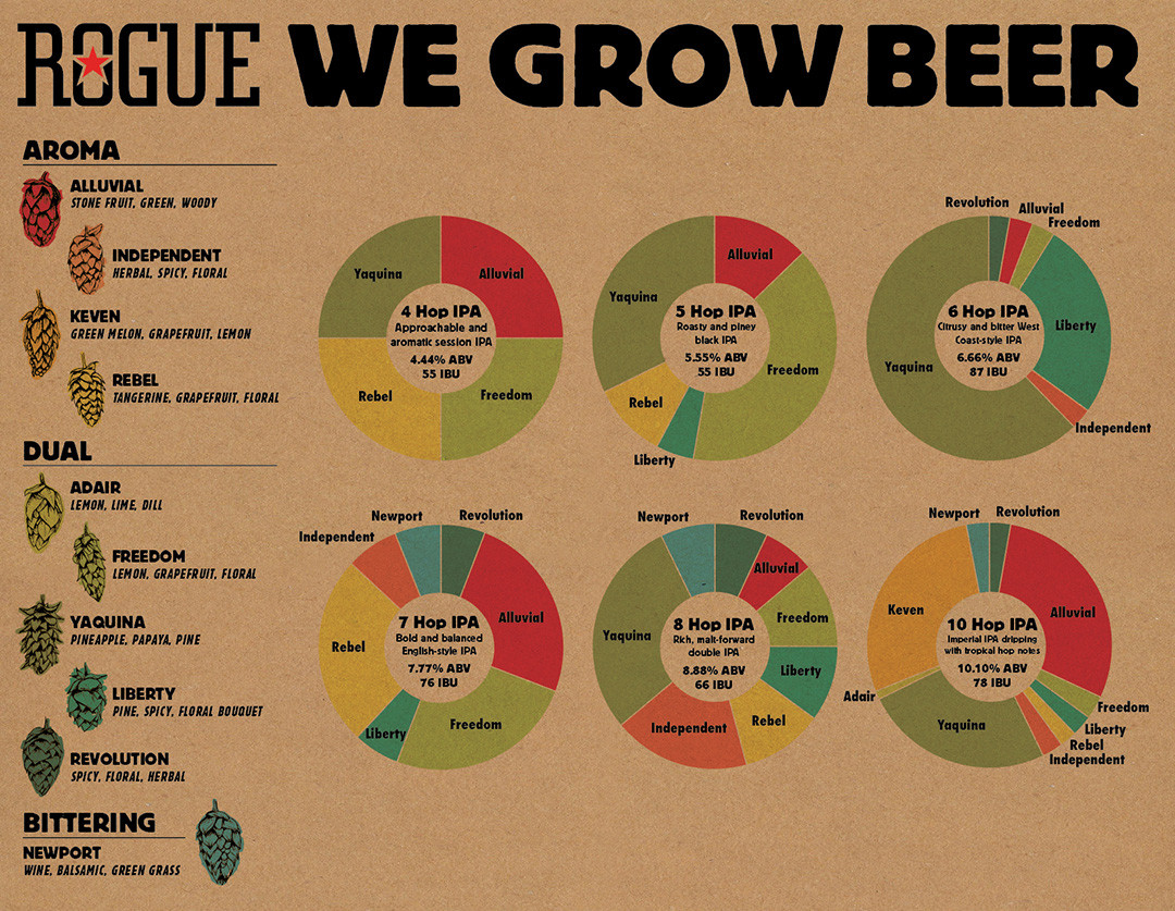 Breaking down how our hops are used in our Hop Family IPAs.